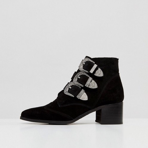 10091e94bc00 ASOS Shoes | Relieve Suede Buckle Ankle Boot | Poshmark